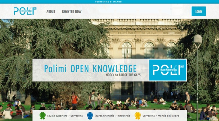 Polimi Open Knowledge: MOOCs to bridge the gaps