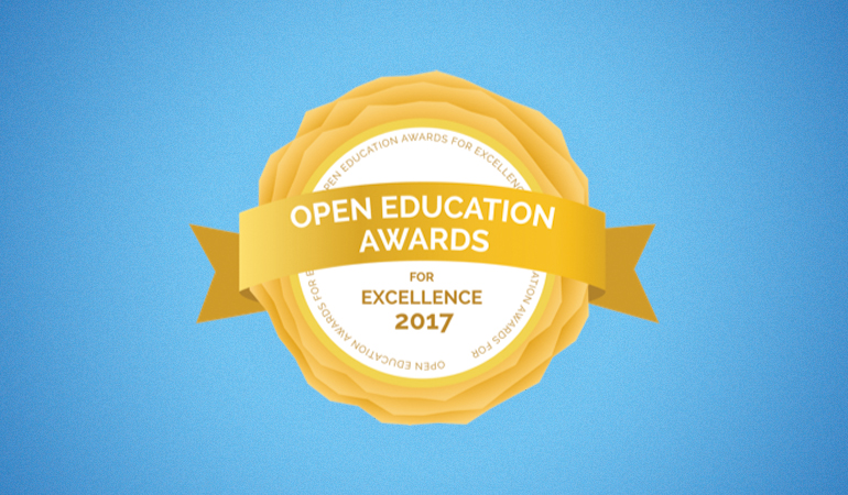 """Using Open Educational Resources in Teaching"" vincitore degli OER & Project Awards for Open Education Excellence 2017"